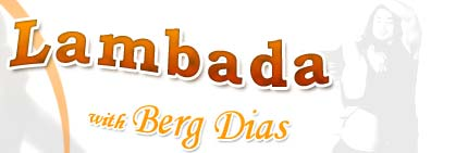 lambada with Berg Diaz graphical text image banner