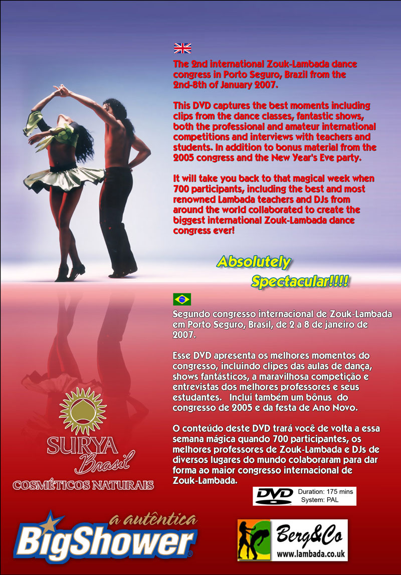 Lambada Dance Congress 2007 DVD back cover